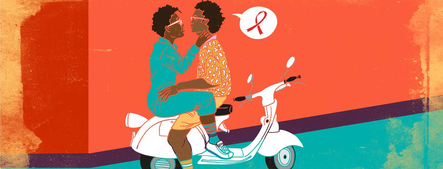 a straight couple on a moped has an intimate discussion about HIV