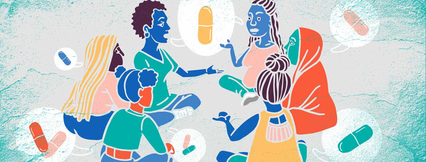 a group of women sit together talking about PrEP for HIV prevention