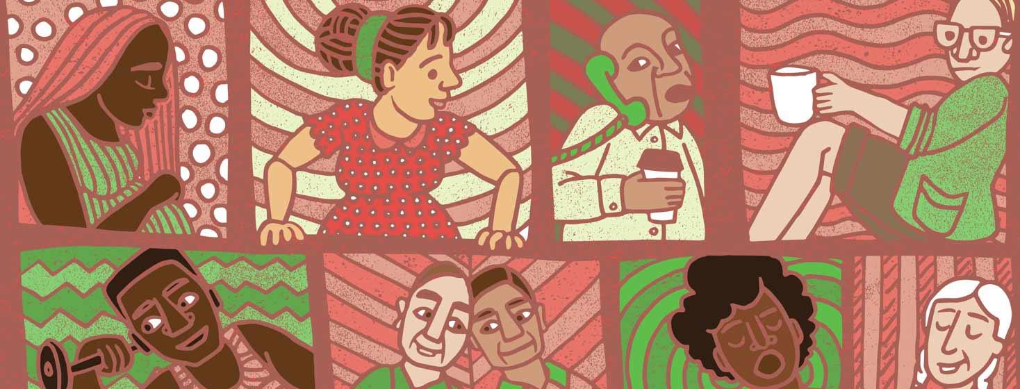 multiethnic, multi-gendered, multi-aged people with HIV